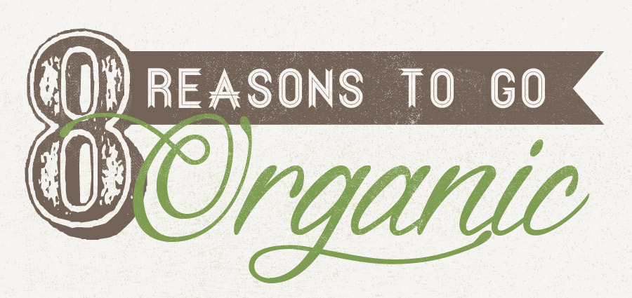 Slideshow image relating to a post titled '8 Reasons to Go Organic'